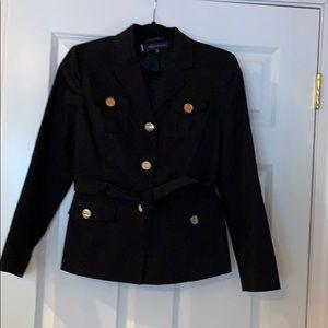 Black Anne Klein blazer with attached belt.
